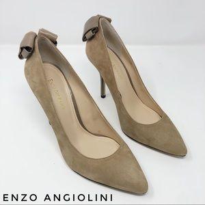 Enzo Angiolini Taupe Suede Eu Padilla Stilettos 9M
